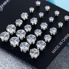crystal ear studs earrings shinny uk