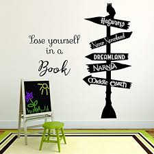 Amazon Com Book Reading Book Story Novel Motivation Quotes Wall Sticker Vinyl Decal For Boys Girls Baby Kids Library Bedroom Daycare Nursery Kindergarten Story Home Decor Sticker Wall Art Vinyl 40x20 Home
