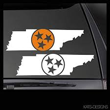 Amazon Com Cliffbennett Tennessee State Tri Star Vinyl Decal Car Truck Window Sticker Tn 00001 Home Kitchen