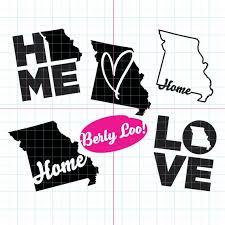 Missouri Home Love Decal Mo Home Mo Love Mizzou Heart Etsy