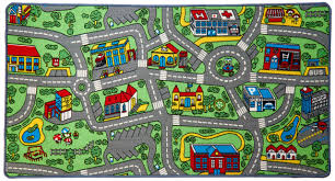 Amazon Com Click N Play City Life Kids Road Traffic Play Mat Rug Large Non Slip Carpet Fun Educational For Play Area Playroom Bedroom 59 X 31 1 2 Toys Games