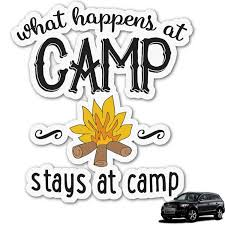 camping sayings quotes color graphic car decal personalized