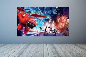 Baymax Mural Baymax Art Decor Big Hero 6 Decal Baymax Decal Fathead Dienamic Decals