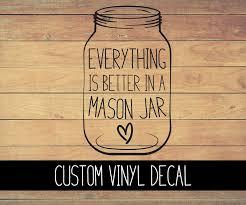 Mason Jar Vinyl Decal Bella Rose Paper Co