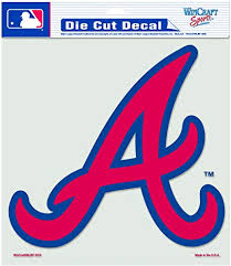 Amazon Com Mlb Atlanta Braves 8 By 8 Inch Diecut Colored Decal Sports Fan Decals Sports Outdoors