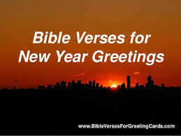 bible verses for new year greetings