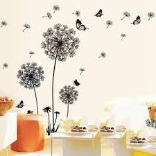 Large Dandelion Flowers Wall Stickers Vinyl Art Mural Decal Home Bedroom Decor Ebay
