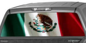 Mexican Flag Rear Window Graphic Decal Print Tint Truck Suv Sticker Stripe Van Ebay