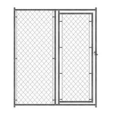 Master Paws 6 X 5 Galvanized Chain Link Kennel Gate At Menards