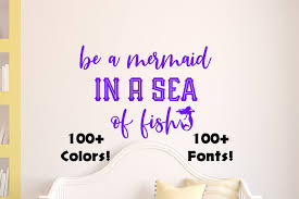 Mermaid Wall Decal Removable Bedroom Home Decal Living Room Etsy