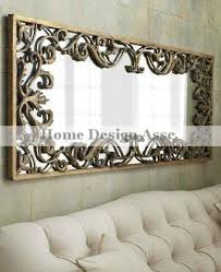 gold scroll wall mirror extra large