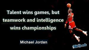 sport quote of the day michael teamwork wins