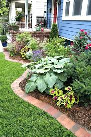 patio cement brick border landscape