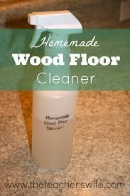 homemade hardwood floor cleaner recipe