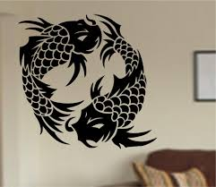 Ying Yang Fish Wall Decal Japan Koi Fish Pattern Cute Animal Wall Stickers Vinyl Home Decor For Kids Rooms Removable Mural Nursery Room Wall Decals Nursery Stickers From Onlinegame 11 67 Dhgate Com