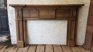 ic5206 antique oak fireplace mantel
