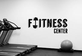 Amazon Com Fitness Center Sign Wall Decal Removable Vinyl Sticker Window Decorations Sports Room Crossfit Gym Workout Bodybuilding Club Studio Decor Fgm24 Arts Crafts Sewing