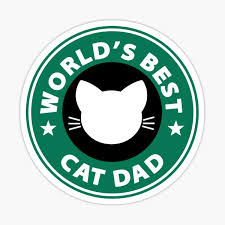 Cat Dad Stickers Redbubble