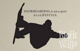 Snowboard Quote Kids Sports Wall Decals Vinyl Art Stickers