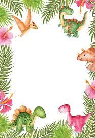 Watercolor Dinosaur Invitacion De Cumpleanos Invitaciones De