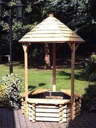 wishing well garden fountain water