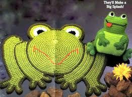 Instant Download Pdf Vintage Crochet Pattern Frog Rug Mat And Etsy