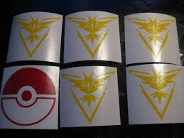 Buy Pokemon Go Team Instinct Pokeball Custom Vinyl Decal Sticker Car Window Nintendo Motorcycle In Cleveland Ohio United States For Us 9 99
