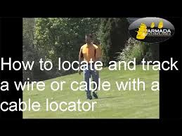 How To Locate And Track An Underground Wire Or Cable With A Cable Locator Tracker Youtube