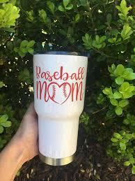 Baseball Mom Or Softball Mom Decal For Mug Yeti Tumbler Mom Tumbler Baseball Mom Baseball Theme Birthday