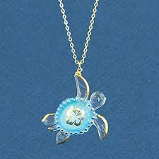 glass baron aloha sea turtle necklace
