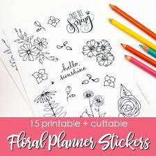 15 Printable Floral Planner Stickers To Beautify Your Entire Routine Page Flutter