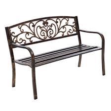 cast iron garden bench chair seat bronze