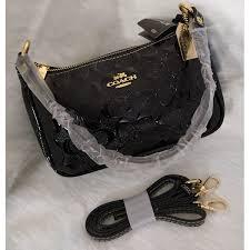 coach black leather handbag sk117