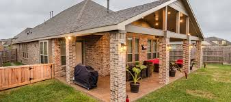gable roof patio cover in cypress texas