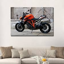 Ktm 1290 Super Duke Muscle Motorcycle Wall Art Posters Canvas Cloth Fabric Print Home Painting With Free Shipping Worldwide Weposters Com