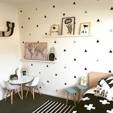 Baby Room Little Triangles Wall Sticker For Kids Room Decorative Stickers Decals Ebay