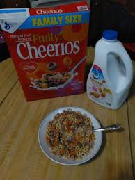 fruity cheerios cereal with oats