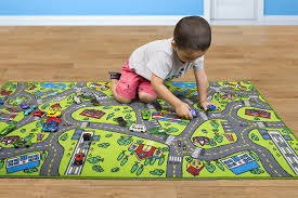 Amazon Com Kids Carpet Playmat Rug City Life Great For Playing With Cars And Toys Play Learn And Have Fun Safely Kids Baby Children Educational Road Traffic Play Mat For Bedroom