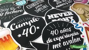 Props Cumple 40 Anos Carteles Fotos Hombre Frases A Elec 10u
