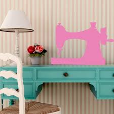Sewing Machine Wall Decor Clothes Designer Gift Removable Vinyl Decal For Craftroom Playroom Or Children S Bedroom Customvinyldecor Com