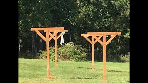 build install 4x4 post clothesline
