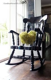 black painted rocking chair goes from