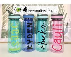 Ideal For Water Bottles Personalised Children S Font Name Vinyl Decal Sticker