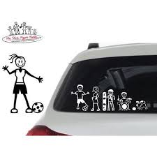 My Stick Figure Family Car Window Stickers F7 Female Cooking Baking Vehicle Parts Accessories Car Exterior Styling Badges Decals Emblems