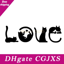 2020 15 4 5cm Car Cats Spell Love Vinyl Car Decal Sticker Fashion Personality Creativity Beautiful Decor Decals From Faone23 3 11 Dhgate Com