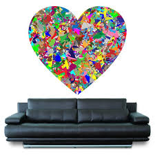 Shop Full Color Colorful Heart Love Painting Full Color Wall Decal Sticker Sticker Decal Size 22x22 Frst Overstock 15220687