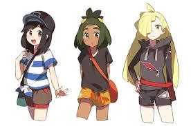 Alola girls   Pokemon characters, Pokemon game characters, Gladion ...