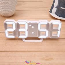 snooze led large wall desk alarm clock