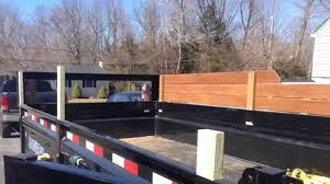 Building Wood Sides On The New Dump Trailer Youtube Dump Trailers Trailer Building