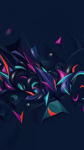 vq28 abstract art pattern rainbow blue